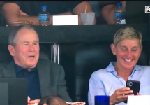 Ellen and George W. Bush - Oct 2019
